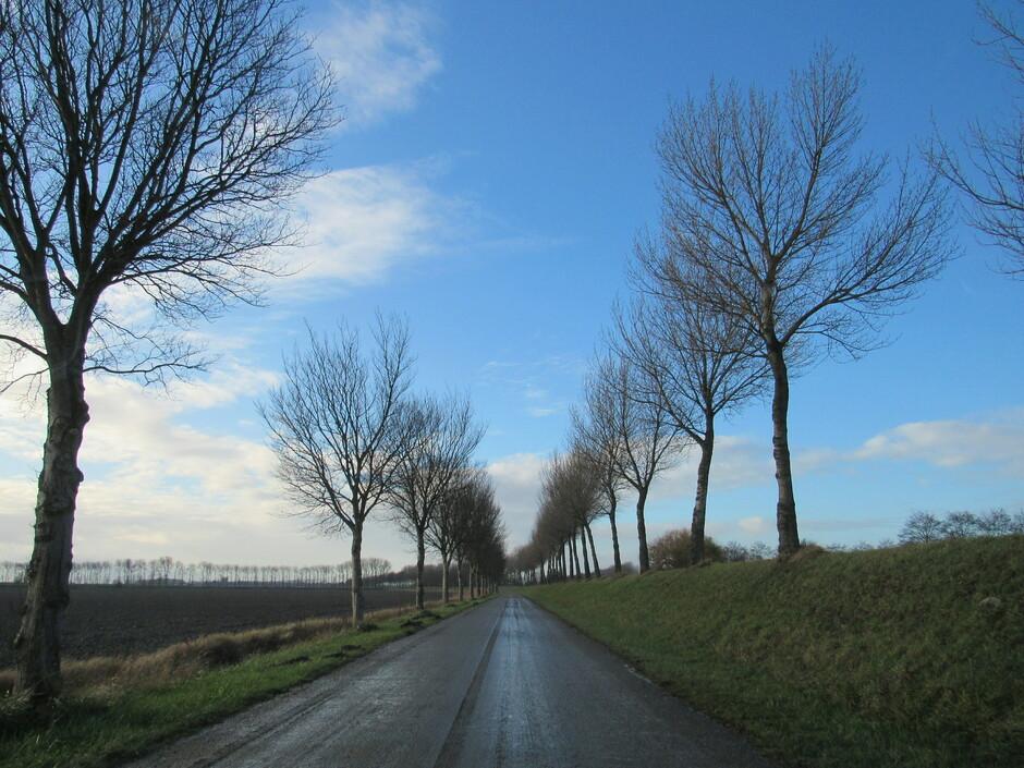 Mooie blauwe luchten, wolken en zon en ook regen tussendoor