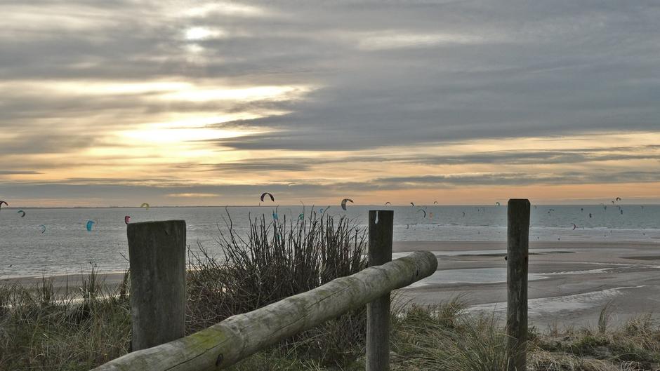 WeerFoto Windsurfen Maasvlakte