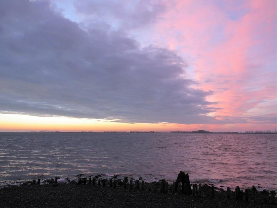 Voor een adembenemende zonsopkomst vanmorgen