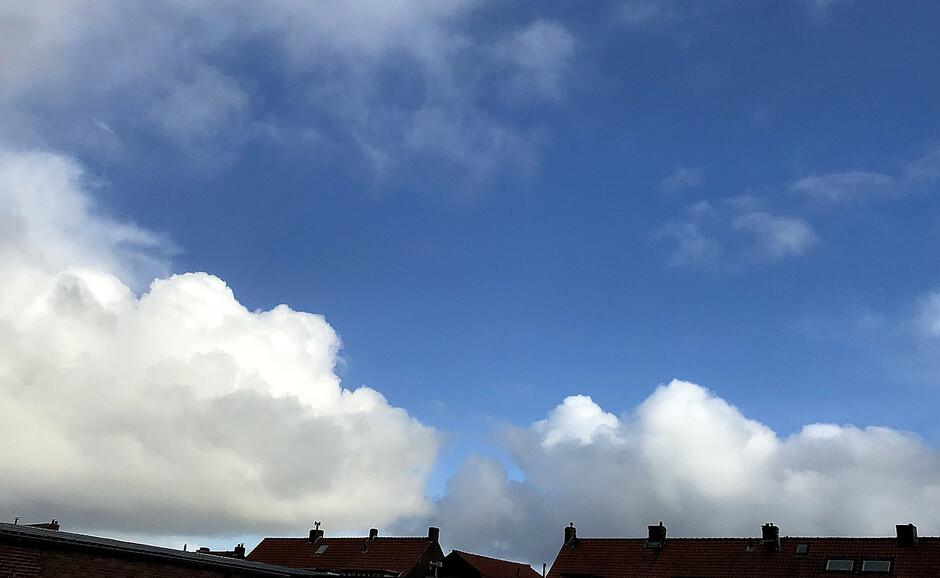 Buienwolken.