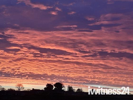 Christmas Morning Sky
