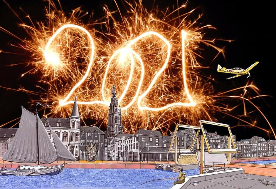 Een gelukkig Nieuwjaar toegewenst vanuit Breda