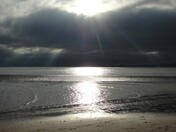 Sun Sea and Clouds over Exmouth Beach