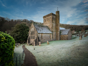 A wintery New Years Day 2021 St Winifred's Church, Branscombe