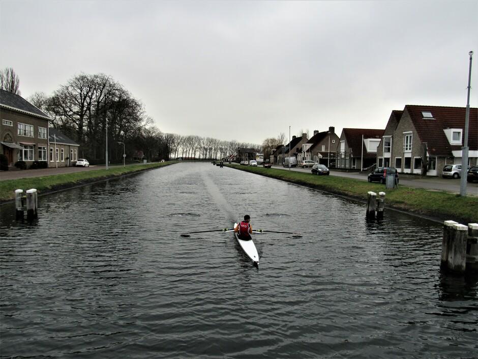 Roeien in het Havenkanaal