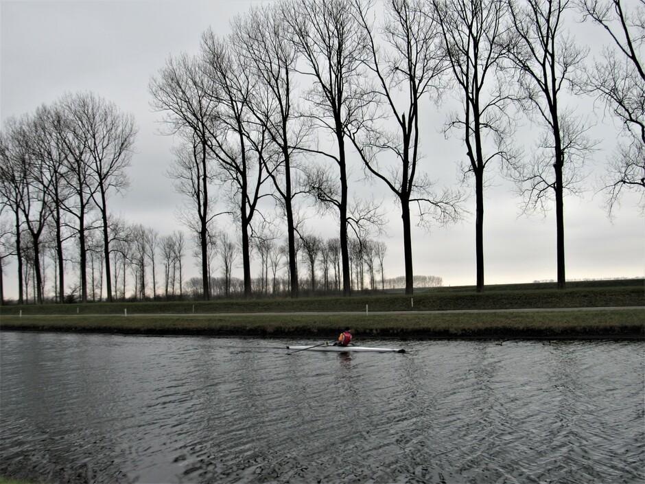 Roeien in het Havenkanaal in Wilhelminadorp