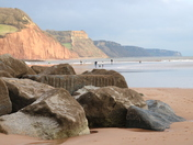 Rocks and cliffs at Sidmouth