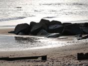 Dark rocks at Sidmouth