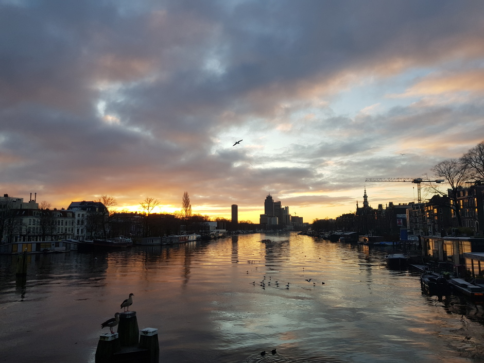 09.00 uur mooie zonsopgang