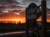 Sunset over Carlton Marshes