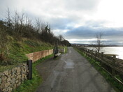 The cycle path between Lympstone and Exmouth