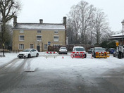 Hadleigh Health Centre Volunteers working in atrocious conditions this morning to get the Covid 19 vaccinations done