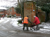 Hadleigh Health Centre Volunteers working in atrocious conditions this morning to get the Covid 19 vaccinations done -  2