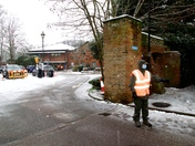Hadleigh Health Centre Volunteers working in atrocious conditions this morning to get the Covid 19 vaccinations done 4