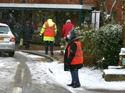 Hadleigh Health Centre Volunteers working in atrocious conditions this morning to get the Covid 19 vaccinations done 5