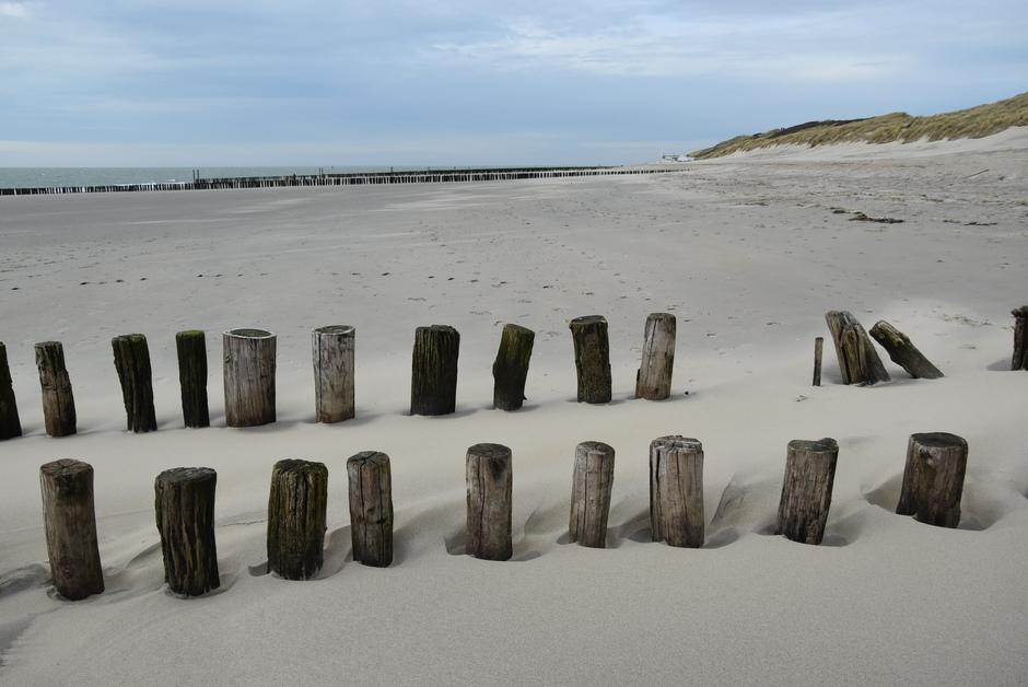 Wind op het strand