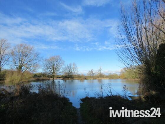 Flooding area near Gunton Lane Recreation Area and Hellesdon Mill