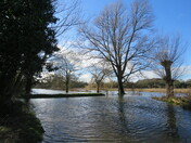 Flooding area near Gunton Lane Recreation Area and Hellesdon Mill