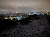 Mousehold Heath under a frost moon