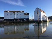 High tide at the tide mill