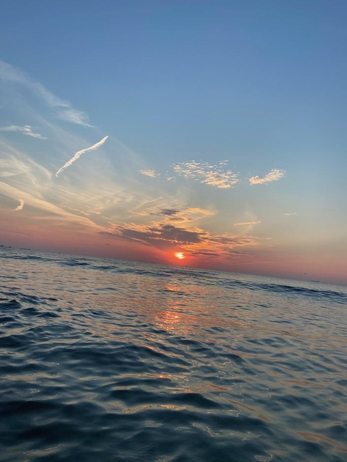 Mooie zomerse zonsondergang