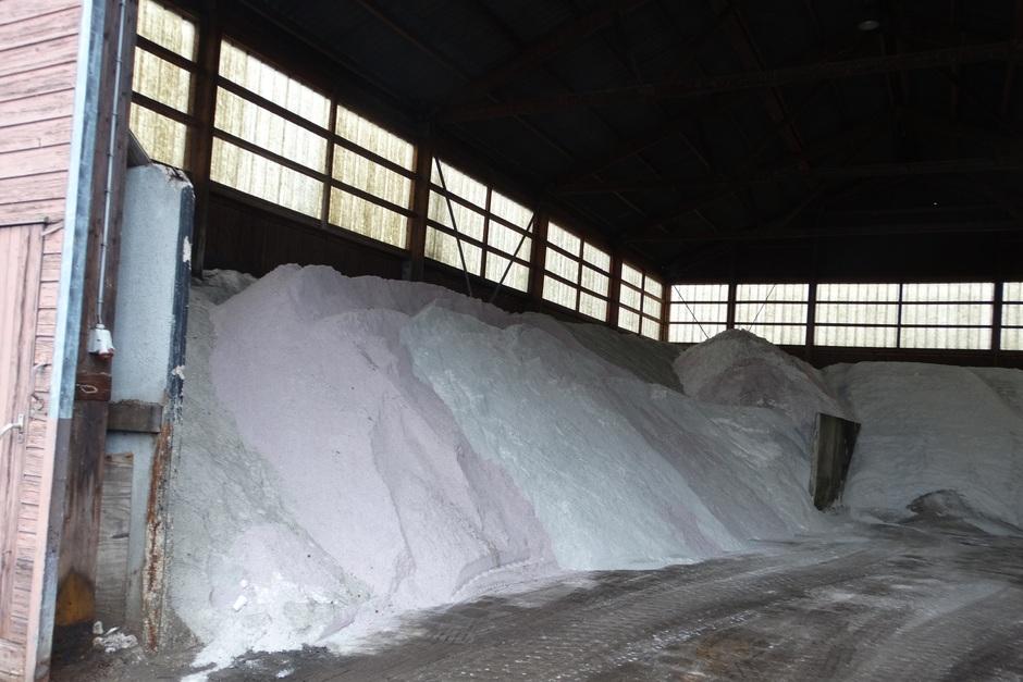 Het zout ligt te wachten