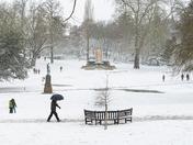 Lockdown Snow in Christchurch Park