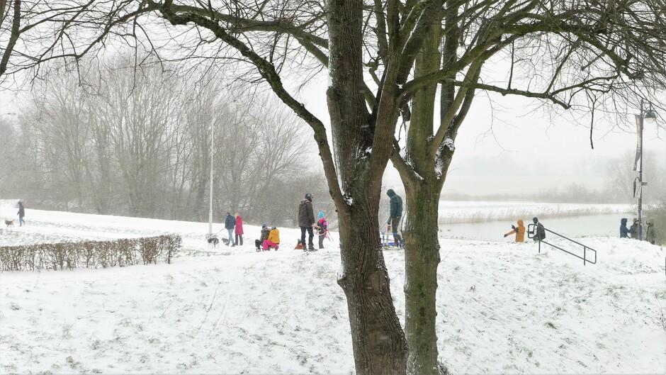 07-02-2021 Wintersport op de wal in Gorinchem