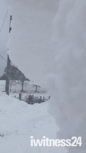 Snow drifts in Brandiston