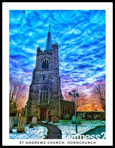 St Andrews Church in the snow.