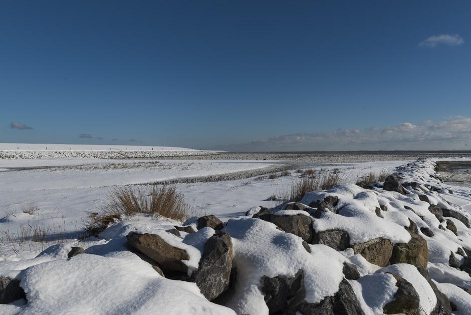 Besneeuwd landschap Ameland