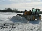 Clearing the snow drift at Hitcham