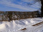 Snowy walk from Falkenham Church down to the River Deben :)