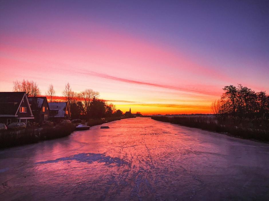 Zoveel kleur voor zonsopkomst op valentijnsdag