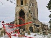 Valentine's message at Wymondham Abbey from residents at a residential home to their community