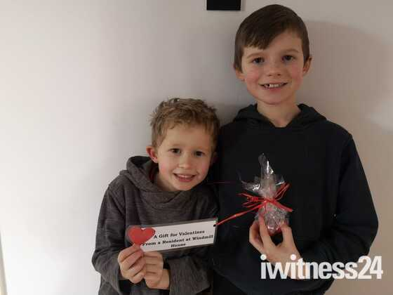 Lovely recipients of Windmill House Residents Valentines Hearts Event In Wymondham yesterday