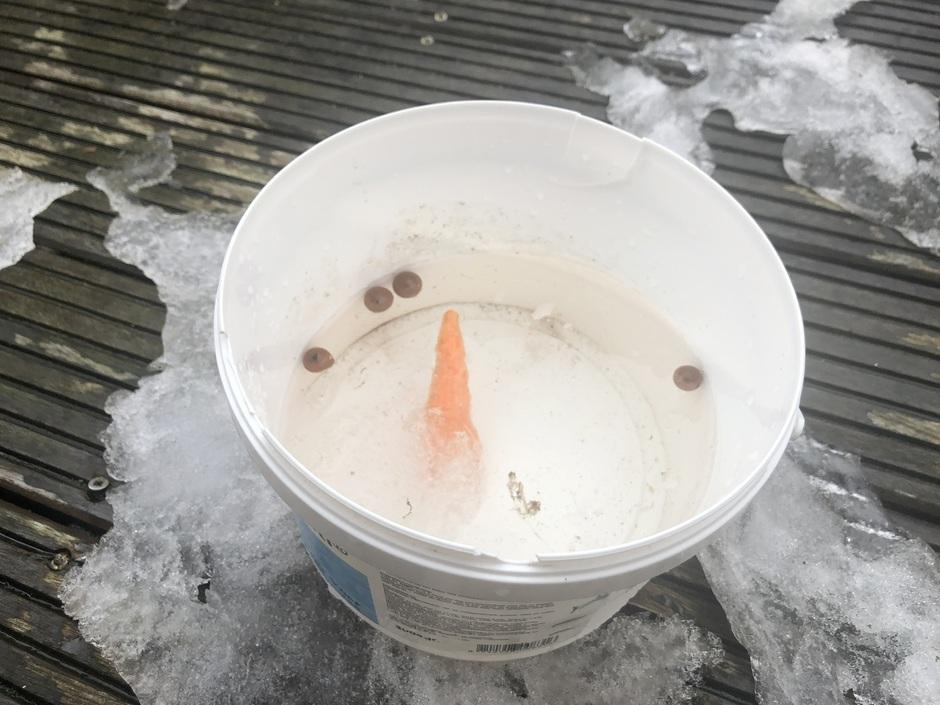 De sneeuwpop is niet meer