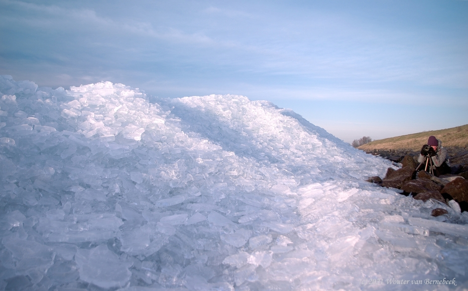Flinke ijsbergen Markermeer