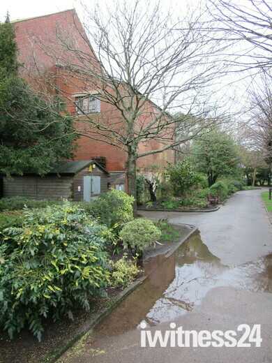 Puddles in Manor Gardens, Exmouth