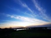 Estuary views at sunset