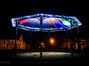 Gorleston Bandstand lights up in the dark