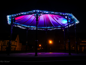 Gorleston Bandstand lights up in the dark