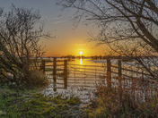 Ouse Washes Welney Flooding at Sunset