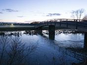 Nayland Bridge at dusk
