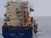 Drama in the channel yesterday -cargo boat in trouble