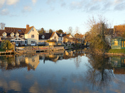 Houses  on the Stour at Nayland