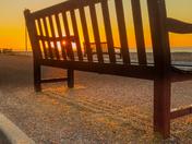 Winter sunrise Budleigh Beach
