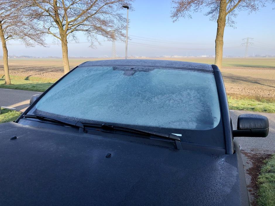 Bevroren auto ruiten
