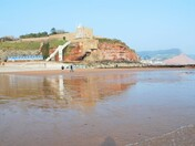 Spring low tide at Jacobs Ladder Sidmouth