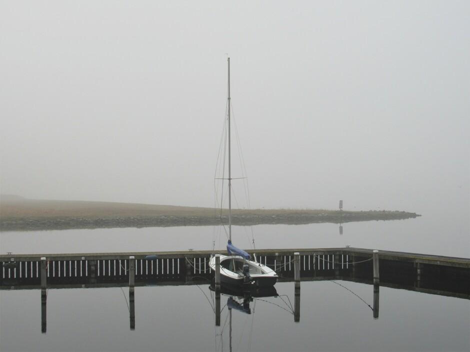 Mist, hopelijk wordt dit bootje snel bevaren